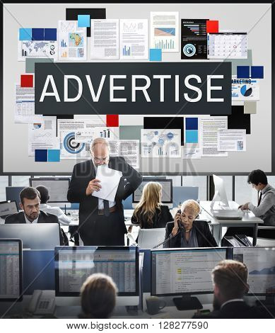 Advertise Communication Digital Marketing Business Concept