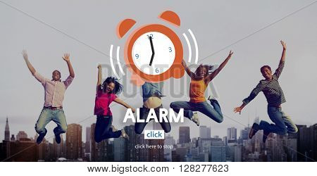 Alarm Clock Wake Up Morning Concept