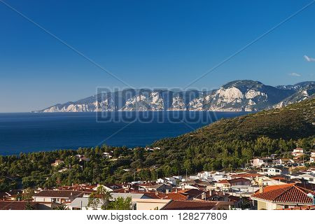 The village of Cala Gonone on the island of Sardinia, Italy