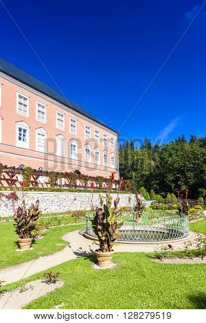 palace in Kamenice nad Lipou with garden, Czech Republic