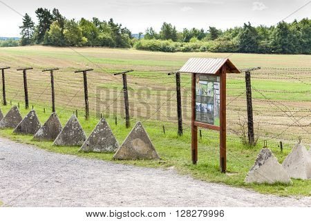 remains of iron curtain, Cizov, Czech Republic