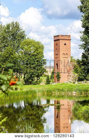 ruins of Kiszewski Castle, Pomerania, Poland