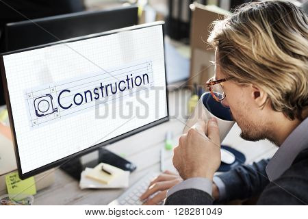 Construction Engineering Equipment Industrial Concept