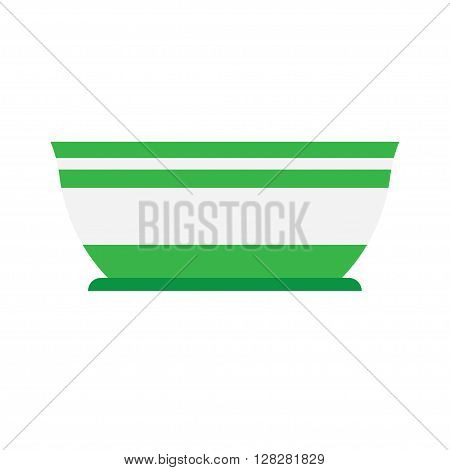 salad bowl is empty on a white background illustration of isolated, flat style
