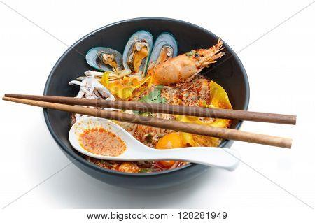 Tom Yum Kung Noodle popular Thai dish cuisine
