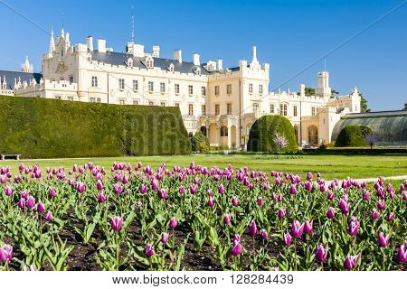 Lednice Palace with garden, Czech Republic