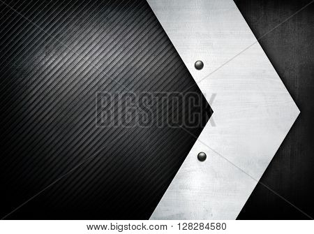 Arrow metal with stripe background