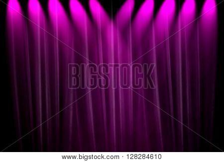 spotlight with purple curtain background