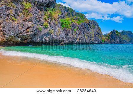 Tropical sand beach, Palawan, Philippines, Southeast Asia