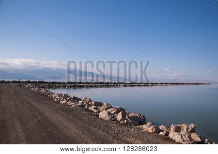 Landscape view of Utah Lake in the Summer