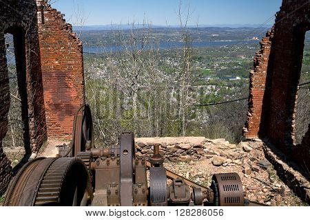 The Ruins of the Mount Beacon Incline Railway