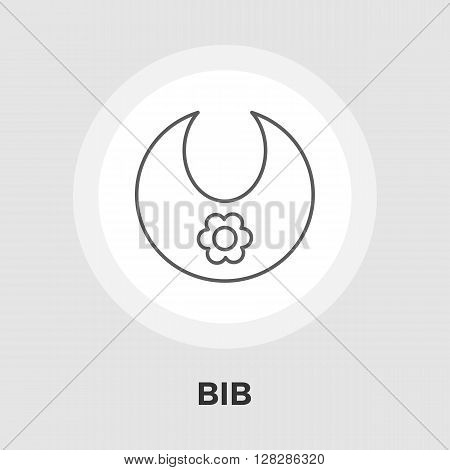 Bib icon vector. Flat icon isolated on the white background. Editable EPS file. Vector illustration.