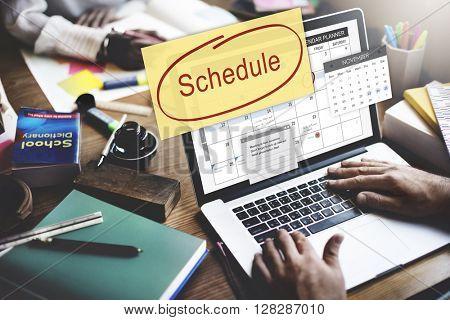Schedule Calendar Planner Organization Remind Concept