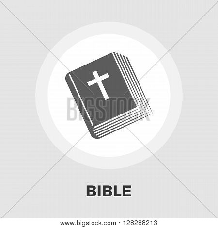 Bible icon vector. Flat icon isolated on the white background. Editable EPS file. Vector illustration.