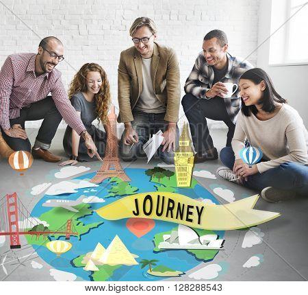 Journey Exploration Tour Travel Trek Vacation Concept