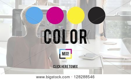 CMYK Color Printing Color Model Creative Concept