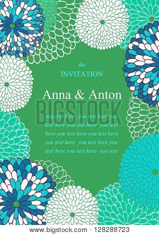 Vector wedding invitation and place for text.