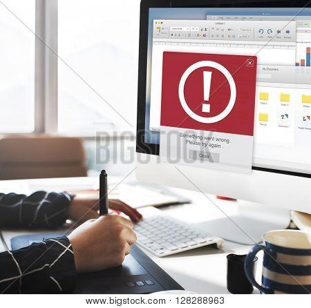 Error Alert Failure Icon Problem Concept