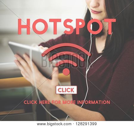 Hotspot Wireless Internet Networking Online Concept