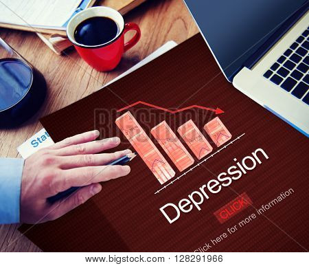 Depression Disorder Downturn Illness Medicine Concept