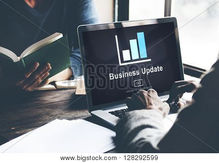 Business Update Graph Chart Graphics Concept