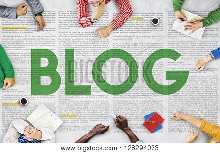 Blog Internet Social Media Network Website Ideas Concept