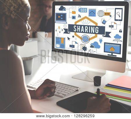 African Woman Business Work Computer Concept