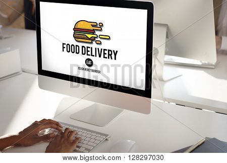 Food Delivery Fast Food Unhealthy Obesity Concept
