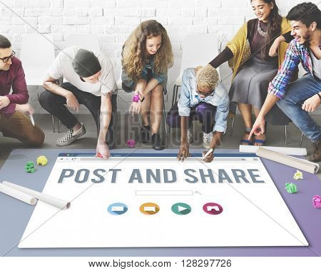 Post Share Communication Connection Social Concept