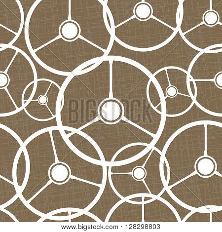 Seamless pattern with automobile steering wheels. Retro vehicle steering wheels on brown background. EPS8 vector illustration includes Pattern Swatch.