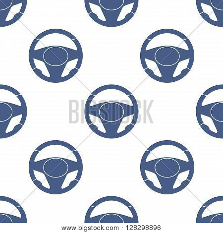Automobile steering wheels seamless pattern. Steering wheels on white background. EPS8 vector includes Pattern Swatch.