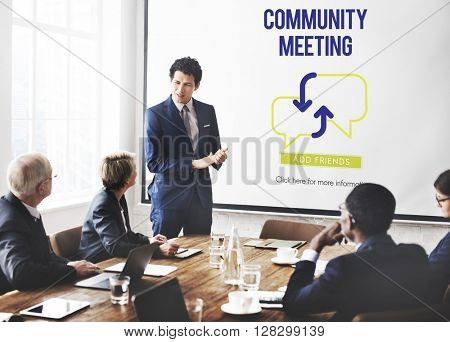 Business People Community Meeting Concept