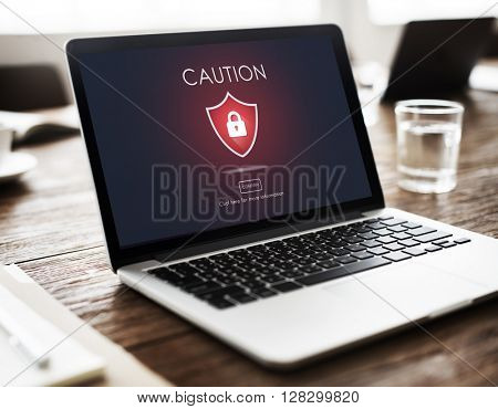 Beware Caution Dangerous Hacking Concept