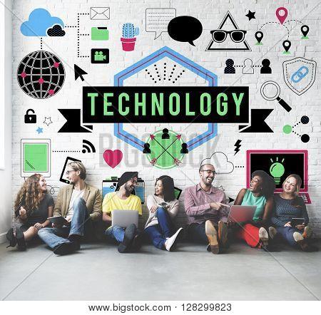Technology Future Digital Media Innovation Concept