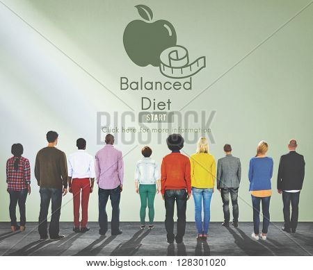 Balanced Diet Healthy Nutrition Choice Selection Concept
