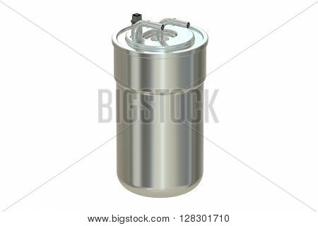 Fuel Filter 3D rendering isolated on white background