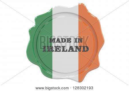 made in Ireland seal stamp. 3D rendering
