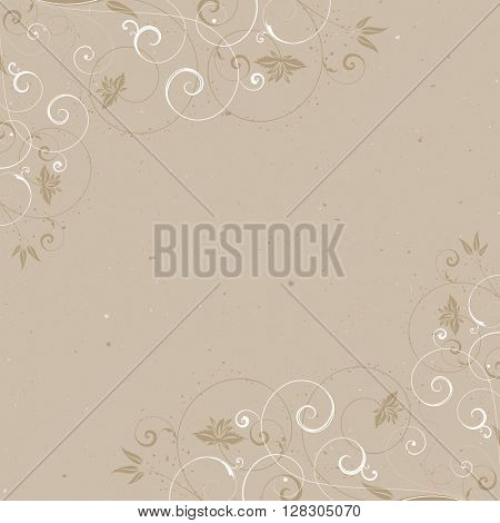 Vintage background with a decorative floral frame