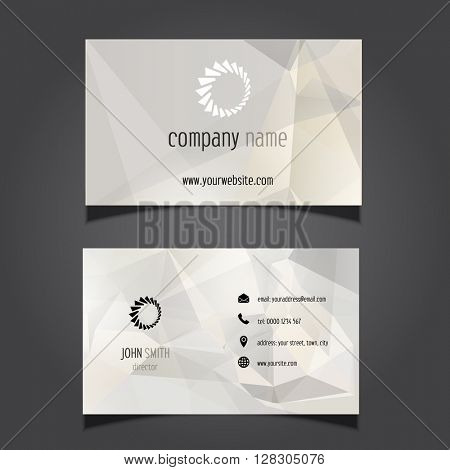 Business card with a geometric design