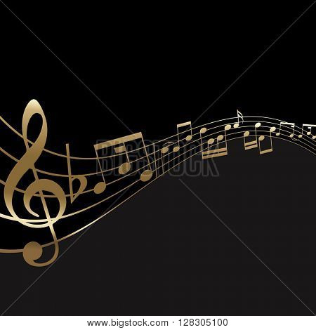Abstract background with a music notes background