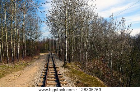 Narrow gauge railway in mine near Beroun