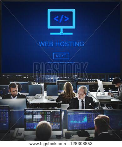 Web Hosting Data Advertising Network Provider Concept