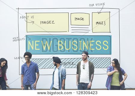 New Business Startup Planning Vision Goals Concept