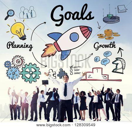 Goals Mission Motivation Aspiration Aim Concept