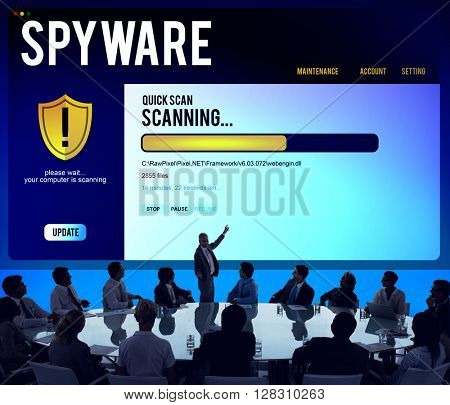 Technology Spyware Computer Business System Concept