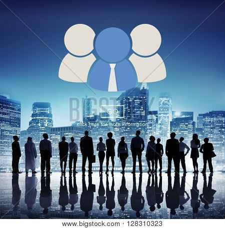 Group Together Team Cooperation Go Concept
