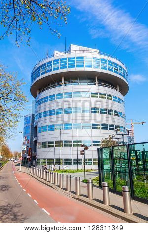 The Hague Netherlands - April 21 2016: office complex The Statesman in The Hague. It is a modern office park with a lot of offices of international organizations and embassies