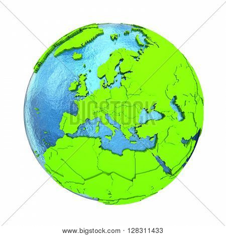 Europe On Green Earth