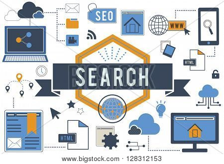 Search Browse Internet Technology Concept