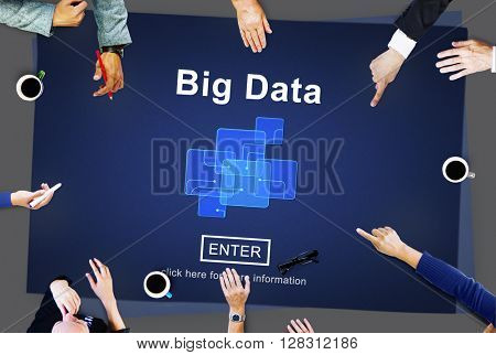 Big Data Storage Online Internet Memory Data Concept